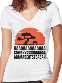 BAAAAAAAAAAAAA SOWENYAAAAAAAAAA MAMABEATSEBABAH T Shirt Women's Fitted V-Neck T-Shirt