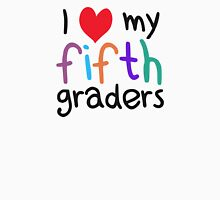 I Heart My Fifth Graders Teacher Love Womens Fitted T-Shirt