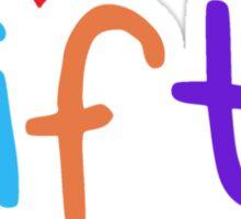 I Heart My Fifth Graders Teacher Love Sticker