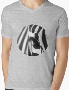 Zebra eye Mens V-Neck T-Shirt