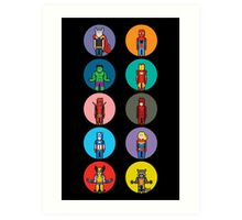8Bit Marvel Characters Art Print