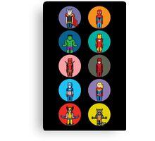 8Bit Marvel Characters Canvas Print