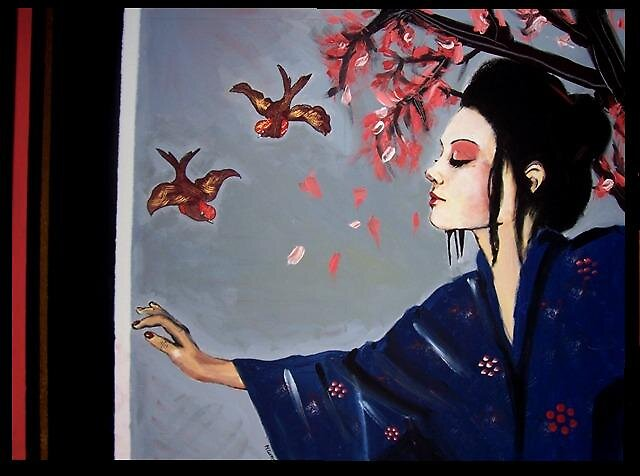 Japanese Geisha by Melissa Jayne Curtis