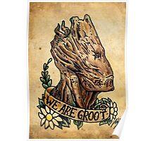 We Are Groot Old School Design Poster
