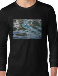 Capricious Liquid Abstracts - Silky Lines and Zigzags Long Sleeve T-Shirt