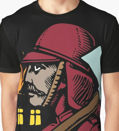 Vintage Fireman Gifts - Retro Firefighter Birthday Gift Ideas   Graphic T-Shirt