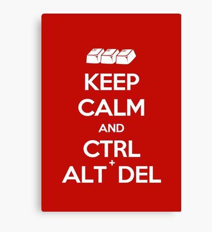 Keep Calm - Ctrl + Alt + Del Canvas Print