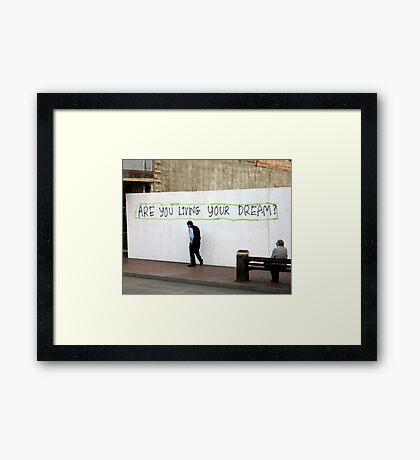 Living Framed Print