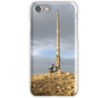 A prayer at the Cruz de Ferro on the Camino de Santiago iPhone Case/Skin
