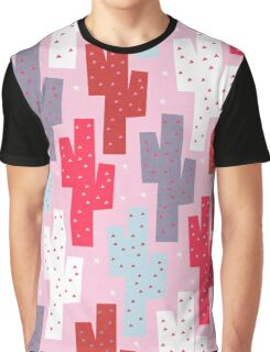 Sweet cactus pattern Graphic T-Shirt
