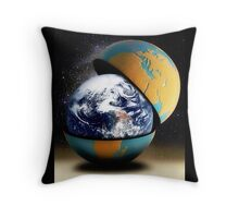 Earth's Protective Cover Throw Pillow