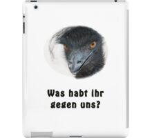 Black Power Emu iPad Case/Skin