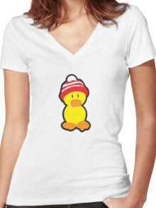 Peter the Duck Women's Fitted V-Neck T-Shirt
