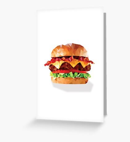 Geometric Bacon Cheeseburger Greeting Card