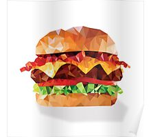 Geometric Bacon Cheeseburger Poster
