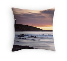 Corny Point Lighthouse Throw Pillow
