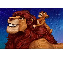 Lion King: Whenever You Feel Alone... Photographic Print