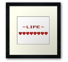 Video Game Heart Life Meter Framed Print