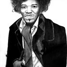 Jimi Hendrix by Bonnie Aungle