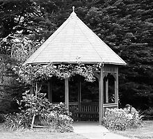 Gazebo in the woods by JavaMama730