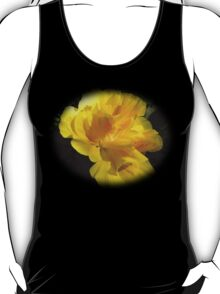 Beautiful double yellow hibiscus on black T-Shirt