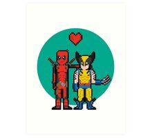 Deadpool Heart Wolverine  Art Print