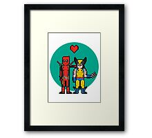 Deadpool Heart Wolverine  Framed Print