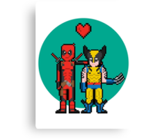 Deadpool Heart Wolverine  Canvas Print
