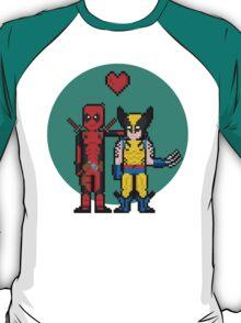 Deadpool Heart Wolverine  T-Shirt