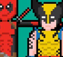 Deadpool Heart Wolverine  Sticker