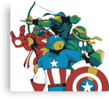 Turtles Avengers Canvas Print