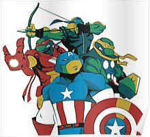 Turtles Avengers Poster