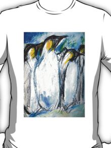 Penguins Acrylics And Ink T-Shirt