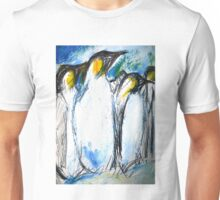 Penguins Acrylics And Ink Unisex T-Shirt
