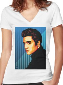 The King Women's Fitted V-Neck T-Shirt