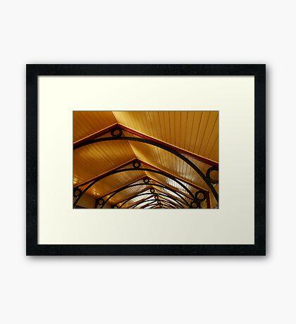 Above, Queenscliff Pier Shelter Shed Framed Print