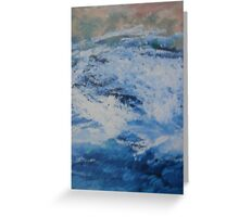 Blue Fury Greeting Card