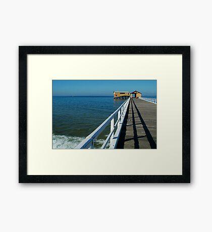Sunny Day, Queenscliff Pier Framed Print