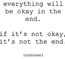 Everything will be okay quote by weesestees