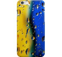 Wet colors- blue and yellow iPhone Case/Skin