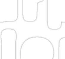 Carpe Diem (Sans Serif White) Sticker