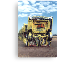 Rise and Fall of the American Cadillac Canvas Print