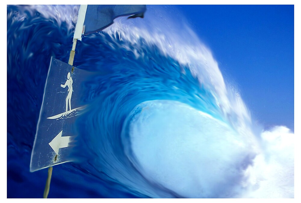 Sign of Surf by Cliff Vestergaard