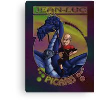 Jean-Luc Picard and the Dragon Canvas Print