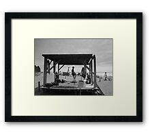Piha Beach - New Zealand Framed Print