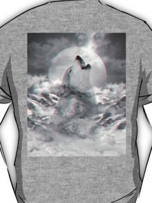 Maybe the Wolf Is In Love with the Moon v.2 (Actual 3D Effect) T-Shirt