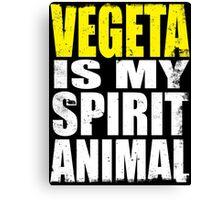 Vegeta is my Spirit Animal Canvas Print