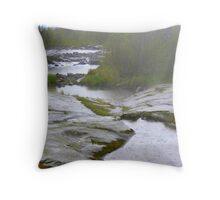 Rocks On Lake Superior Throw Pillow