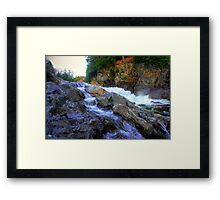 Colored Steps at Livermore Falls, Plymouth, NH Framed Print