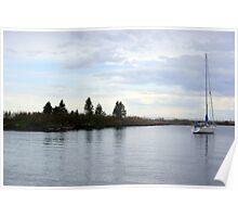 Sailboat On Lake Superior Poster